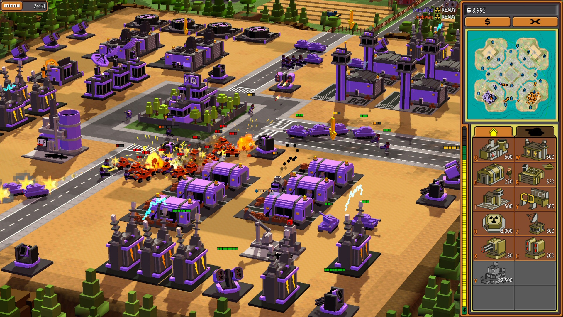 8-Bit Armies real-time strategy game on Xbox One, PS4, and PC.